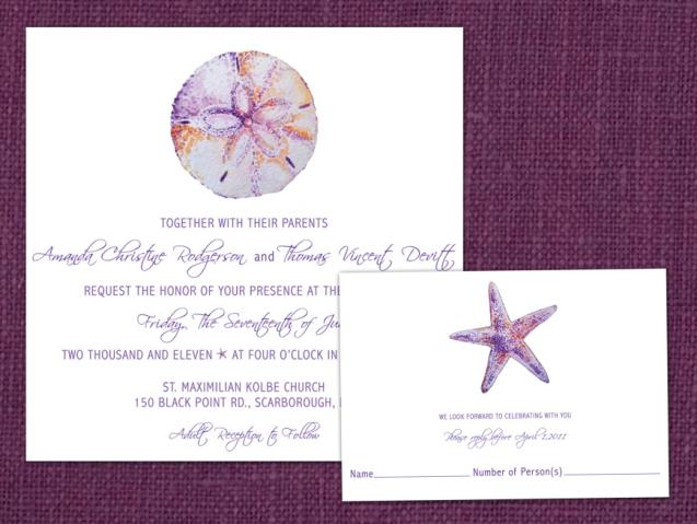 Seashell Wedding Invitation Package