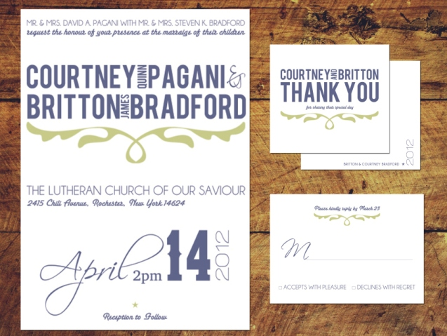 Country Style Wedding Invitation Package